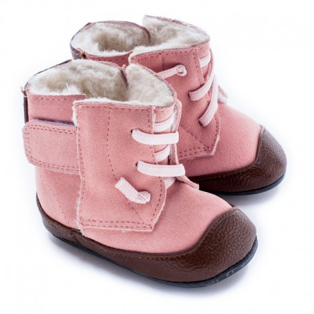 Boots souples cuir Jo Pink