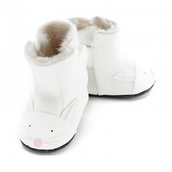 Boots Souples Cuir Bunny White