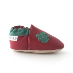 Chaussons cuir souple Tropical