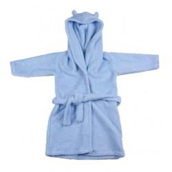 Peignoir en coton biologique Eponge Bleu