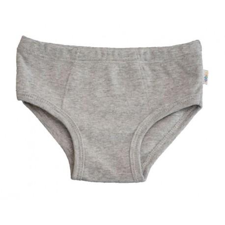 Slip en coton biologique gris