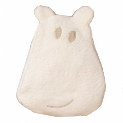Bouillotte en tissu éponge Hippo Crème