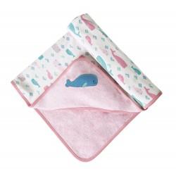 Couverture coton bio Little Whale