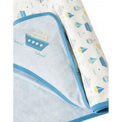 Couverture coton bio Summer Sea
