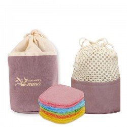 Trousse Bambou Couleur Carres Demaquillants