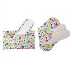 Lot de 2 serviettes intimes coton bio + Pochette