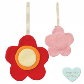Doudou plat coton bio Fleur