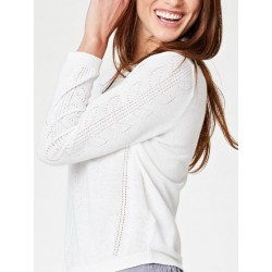 Pull chanvre Pointelle
