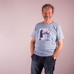 Tee-shirt coton bio Bleu Citadelle