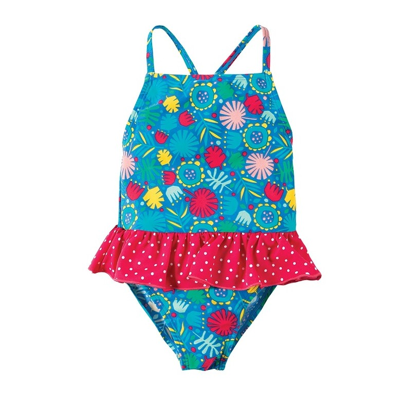 little coral swimsuit maillot de bain anti uv bebe fille frugi. Black Bedroom Furniture Sets. Home Design Ideas