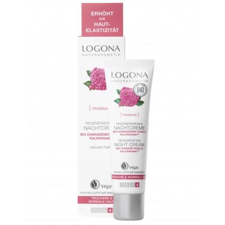 Crème de nuit peau sèche à la rose 30 ml Logona