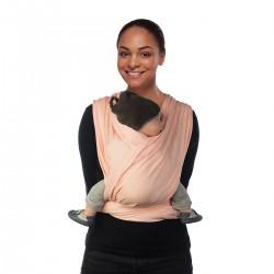 Echarpe de portage Tissée coton bio BB Slen 4m90 delicate pink