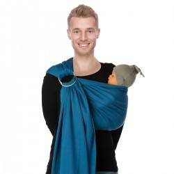 Sling en coton bio BB bleu