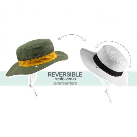 Chapeau Anti-UV Reversible Kapel Kaki