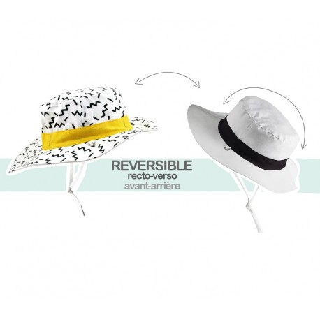 Chapeau Anti-UV Reversible Kapel Zig Zag