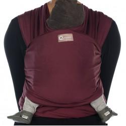 Echarpe de portage Tricot Slen Organic burgundy red