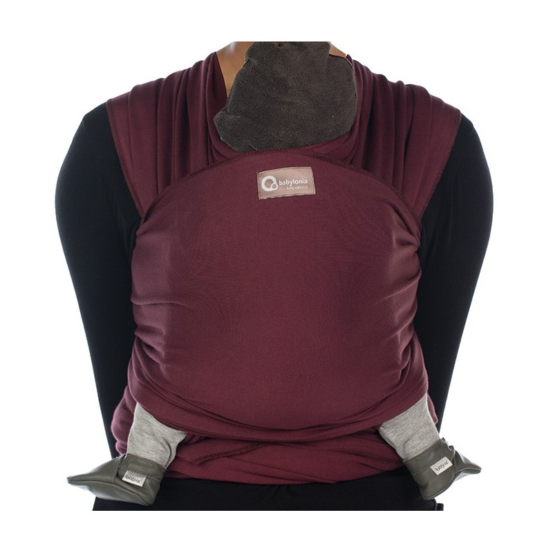 ... Echarpe de portage Tricot Slen Organic burgundy red 4434218eb01