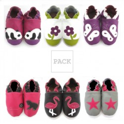 Pack 6 paires chaussons fille
