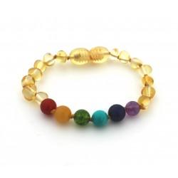 Bracelet Ambre miel Pierres semi-précieuses