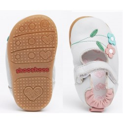 Babies souples cuir Antique rose