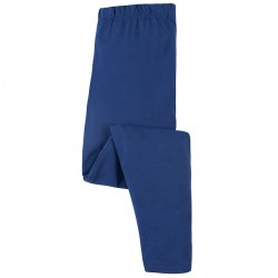 Leggings coton bio Bleu
