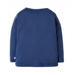 T-shirt coton bio Bleu
