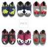 Pack famille 6 paires chaussons