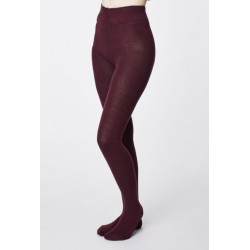 Collants bambou Aubergine