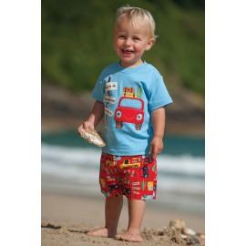 tee-shirt coton bio bleu