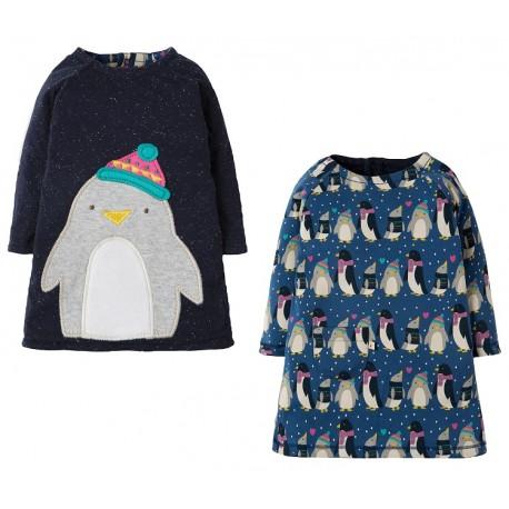 Robe coton bio Réversibles Pingouins