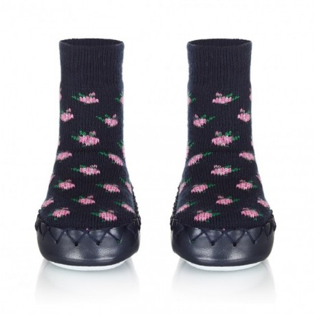 Chaussons Chaussettes Navy Rose