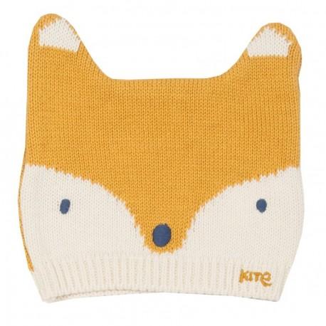 Bonnet coton bio Foxy Moutarde