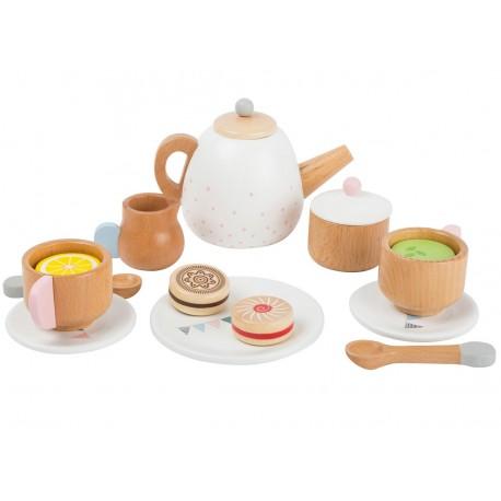 Service à thé en bois Nature