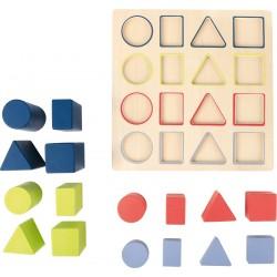 Puzzle bois Géométrie