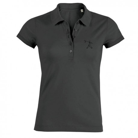 Polo coton bio Anthracite