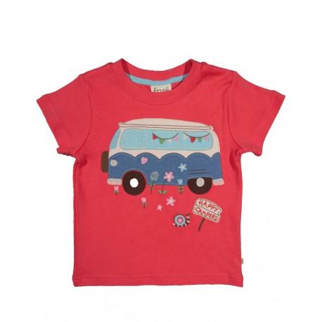 Tee-shirt Happy Frugi Corail