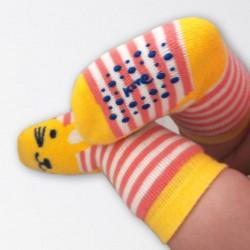 Lot 2 paires chaussettes coton bio Antidérapantes Grippy