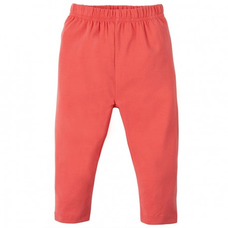 Leggings coton bio Corail