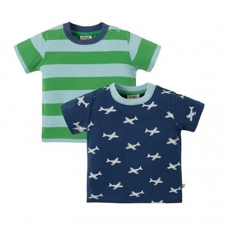 Lot 2 T-shirts coton bio Bébé