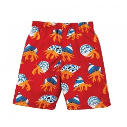 Short de bain anti-uv UPF50+ Rouge