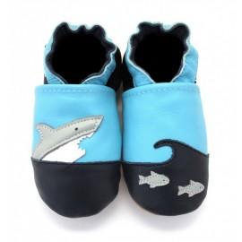 Chaussons Cuir Souple Croc Requin