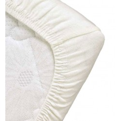 Drap Housse coton bio Blanc