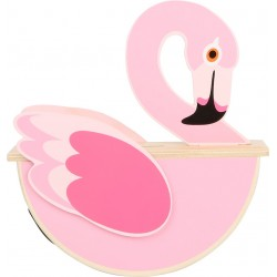 Tirelire bois Flamant Rose