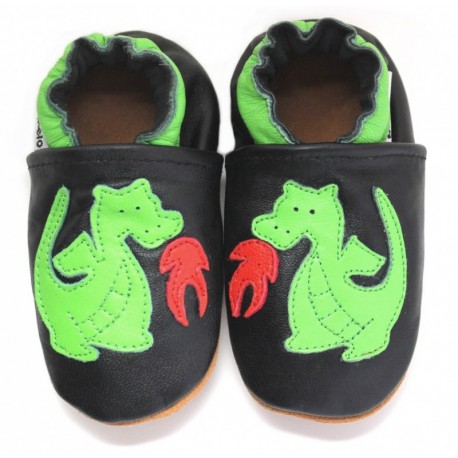 Chaussons Cuir Souple Dragon