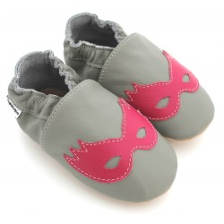 Chaussons Cuir Souple Girl Power