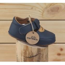Chaussures souples à scratch Bleu Marine