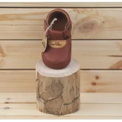 Chaussures souples à scratch Marron
