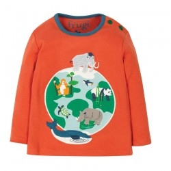 Tee-shirt coton bio Planète 3-6 Mois