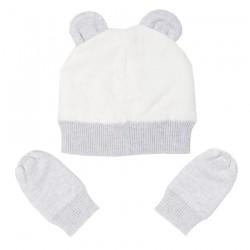 Pack Bonnet + Moufles en coton bio