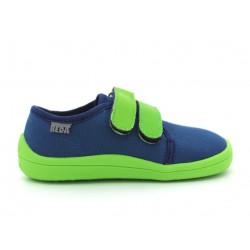 Barefoot en toile Zeleno Modra